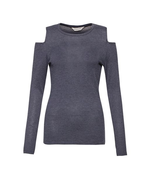 Great Plains | Blue Callie Cold Shoulder Long Sleeved Top | Lyst