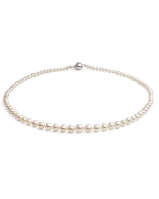 Jersey Pearl | White Graduated Necklace | Lyst