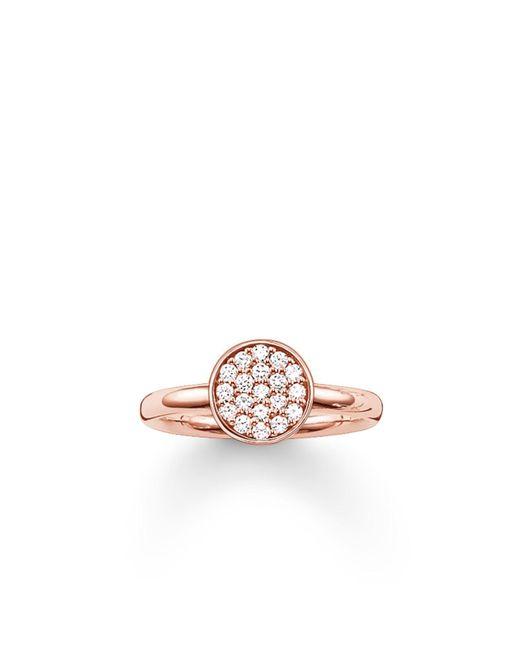 Thomas Sabo - Pink Sparkling Circles Pave Set Ring - Lyst