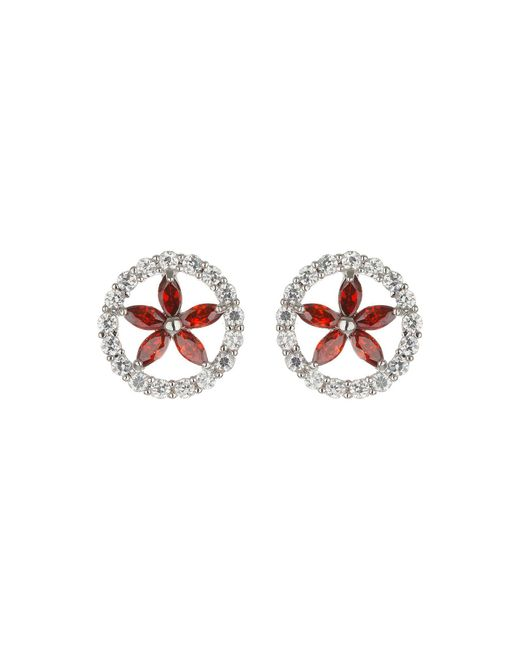 Mikey - Multicolor Oval Cubic Marqise Stud Earring - Lyst