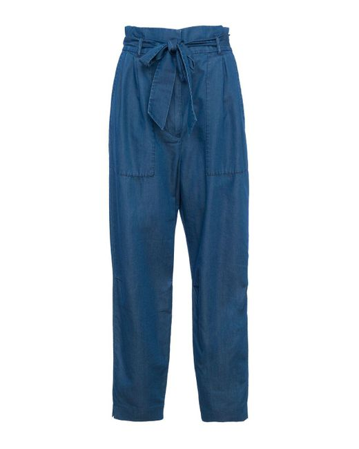French Connection - Blue Ary Paperbag Waist Trousers - Lyst