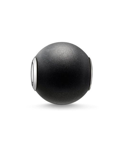 Thomas Sabo | Black Karma Beads Bead Obsidian, Matt | Lyst