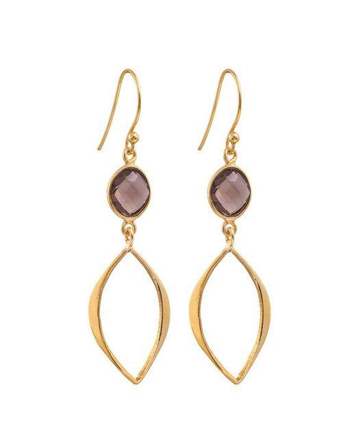 Juvi Designs   Metallic Gold Vermeil Boho Cat Eye Earrings   Lyst