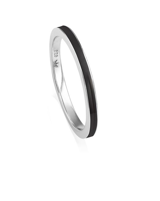 Jersey Pearl - Black Freshwater Pearl Stacking Ring - Lyst