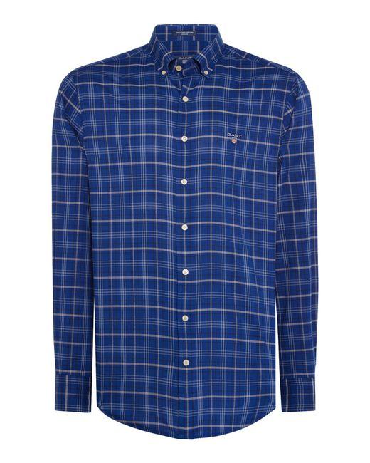 Gant - Blue Men's Windowpane Checked Shirt for Men - Lyst