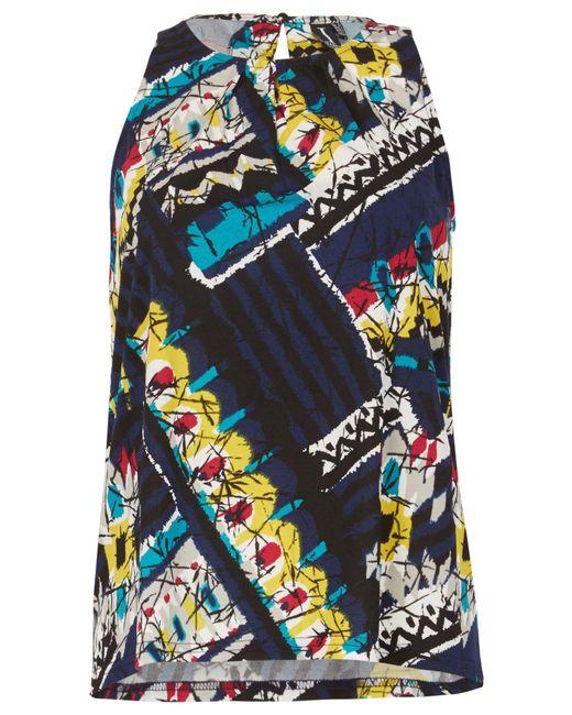 Izabel London | Blue Bold Print Sleeveless Top | Lyst