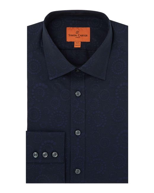 Simon Carter | Blue Men's Concentric Circle Jaquard Shirt for Men | Lyst