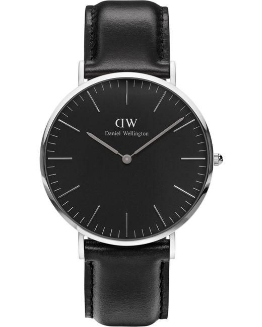 Daniel Wellington - Black Classic Blk Sheffield 40 Silver Watch - Lyst