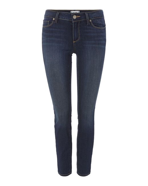 PAIGE - Blue Verdugo Mid Rise Ankle Skinny Jeans In Nottingham - Lyst