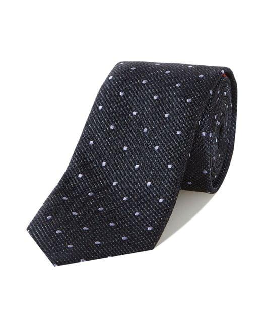 HUGO | Blue Square Dot Tie for Men | Lyst