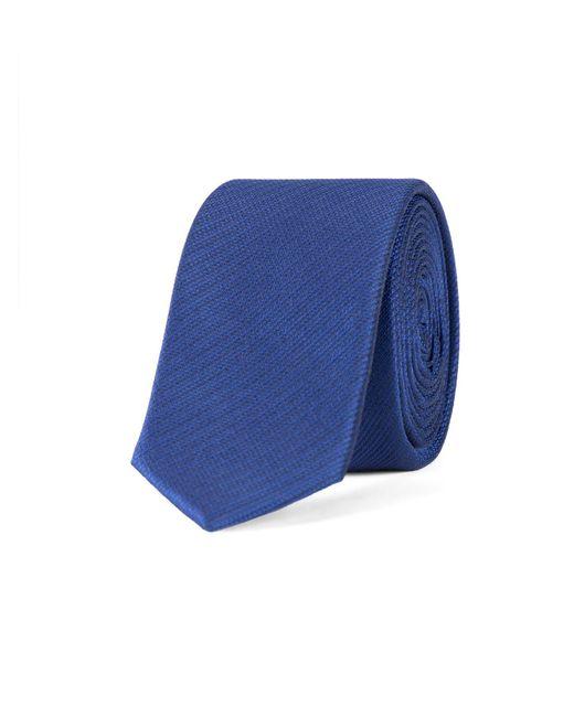 Limehaus - Blue Self Stripe Tie for Men - Lyst