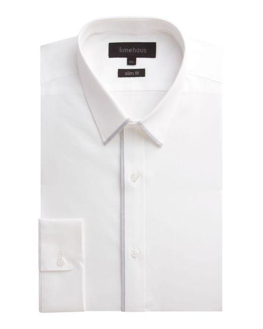 Limehaus | White Plain Slim Fit Poplin Formal Shirt for Men | Lyst