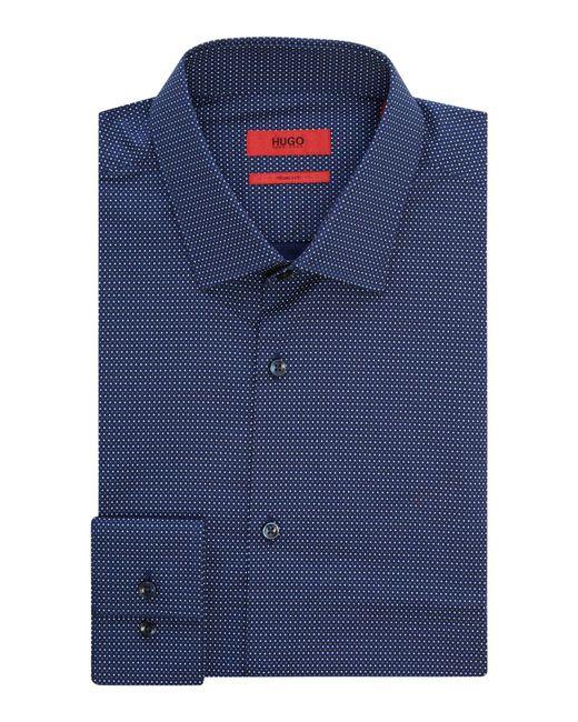 HUGO - Blue Men's Slim Fit Multi Ditsy Spot Shirt for Men - Lyst