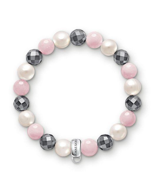 Thomas Sabo - Multicolor Charm Club Hematite Stone Bracelet - Lyst