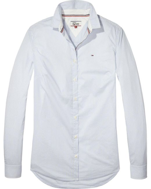 806d387e7177 Tommy Hilfiger Tommy Jeans Basic Stripe Shirt in Blue for Men - Lyst