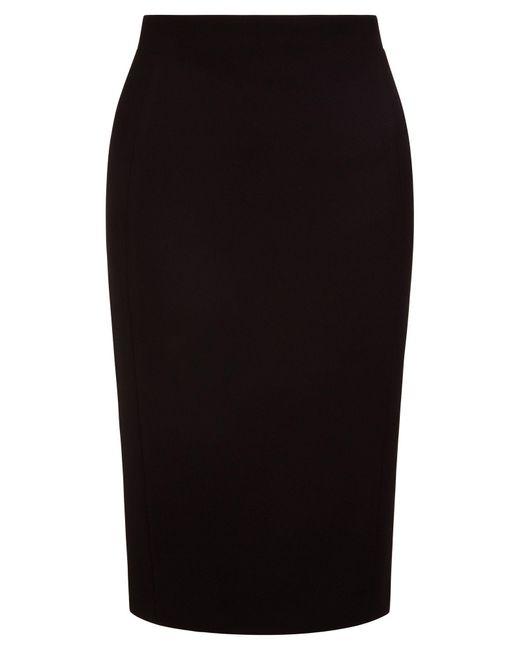 Hobbs - Black Helena Pique Skirt - Lyst