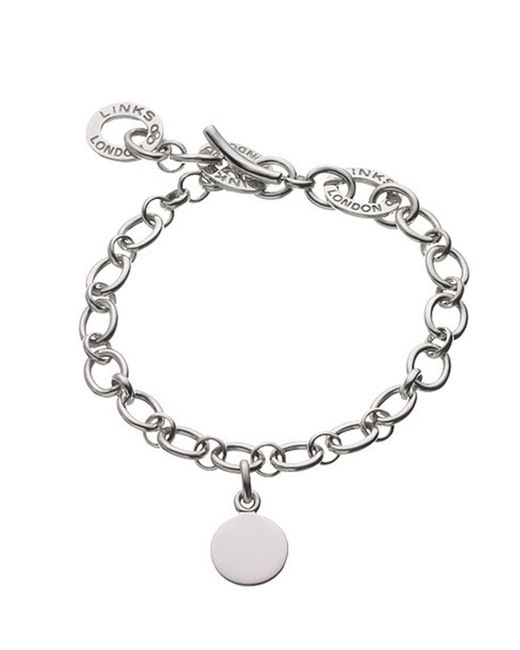 Links of London - Metallic Baby Disc Charm Bracelet - Lyst