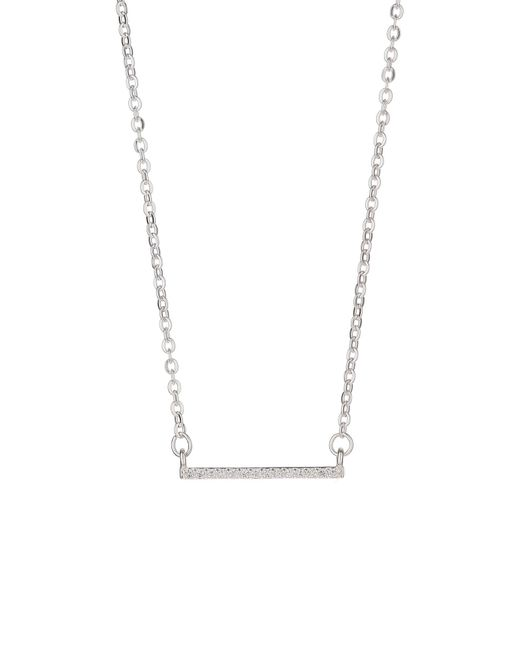 Mikey - Metallic Silver 925 Embed Link Bar Design Pendant - Lyst