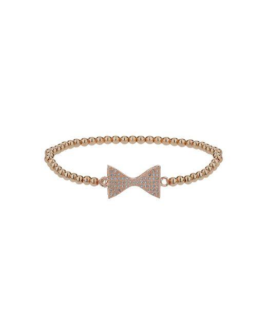 Mikey - Metallic Neck Bow Crystal Elastic Bracelet - Lyst