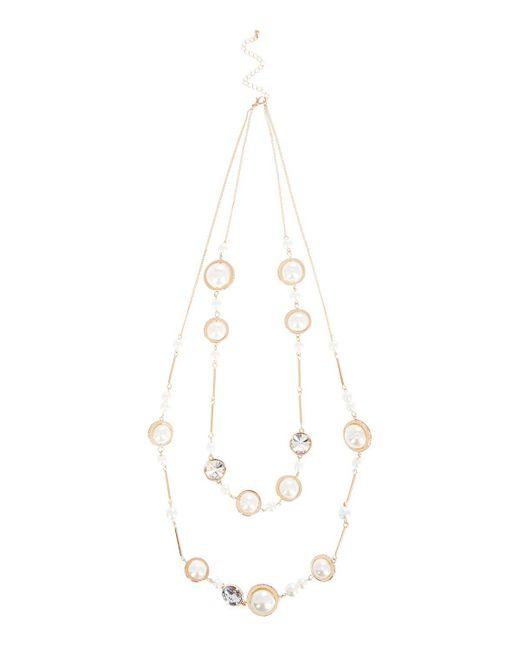 Coast - White Lulu Pearl Necklace - Lyst