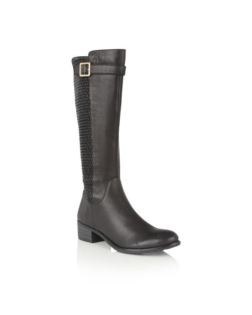 Lotus | Black Nuttall Leather Knee High Boots | Lyst