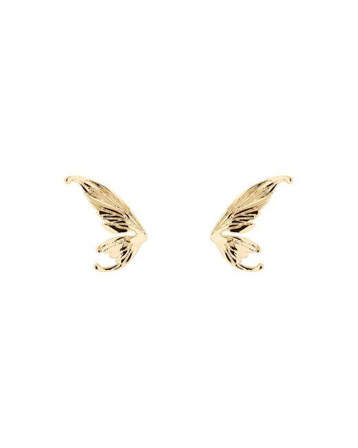 Ted Baker | Metallic Cobweb Gold Fairy Wing Stud Earrings | Lyst