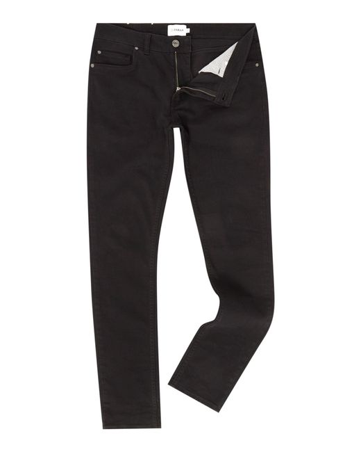Farah | Blue Drake Super Slim Fit 5 Pocket Black Jeans for Men | Lyst