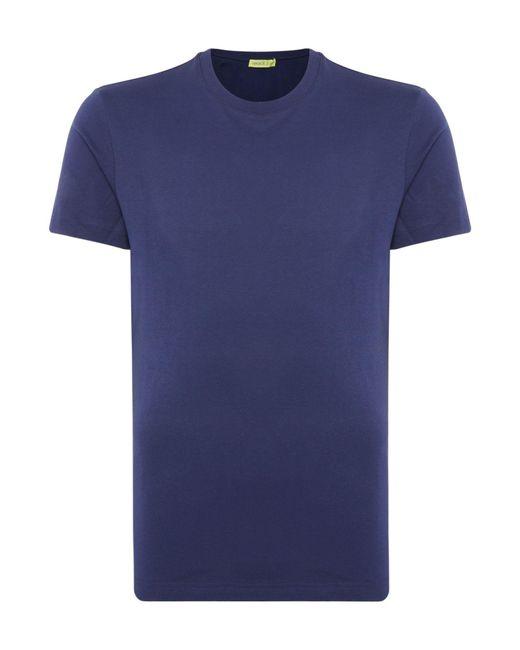 Versace Jeans - Blue Men's Leaf Chest Print T-shirt for Men - Lyst