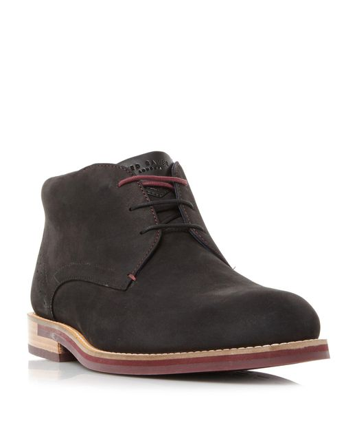 Ted Baker | Black Daiino Contrast Sole Chukka Boots for Men | Lyst