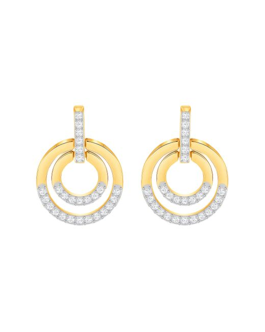 Swarovski | Metallic Circle Pav Hoop Earrings | Lyst