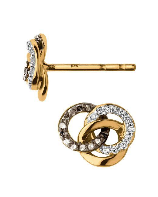 Links of London - Metallic Treasured Gold & Diamond Stud Earrings - Lyst