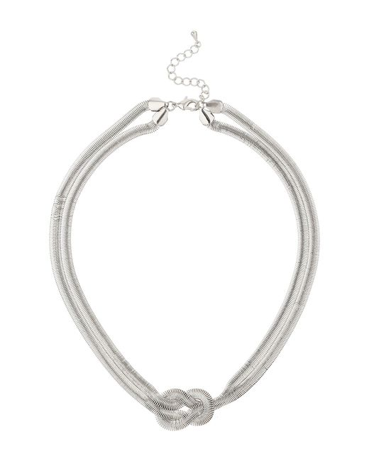 Mikey | White Twsited Lock Necklace | Lyst