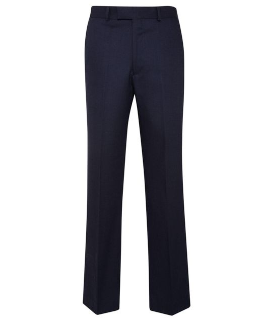 Chester Barrie - Blue Birdseye Tailored Fit Suit Trousers for Men - Lyst