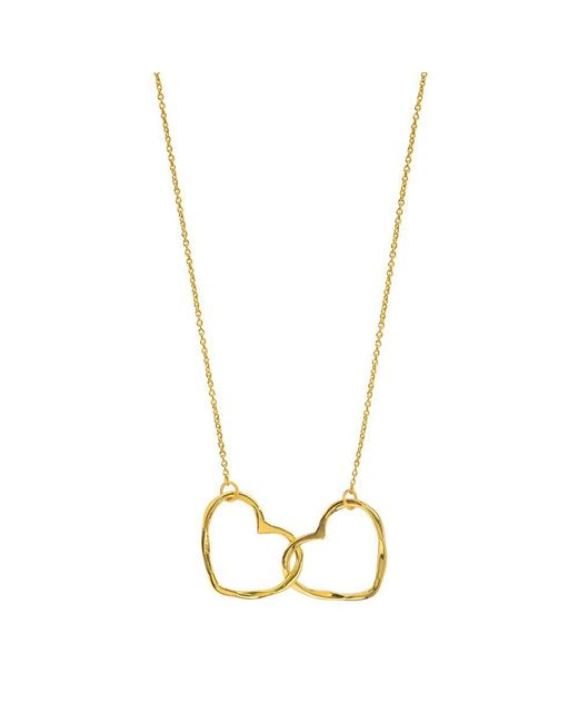 Juvi Designs - Metallic Gold Vermeil Hearts Entwined Pendant - Lyst