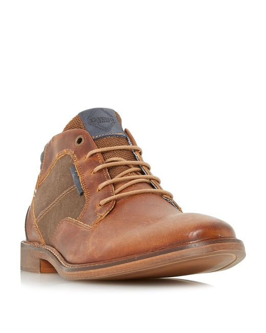Dune   Brown Cosmo Contrast Collar Chukka Boots for Men   Lyst