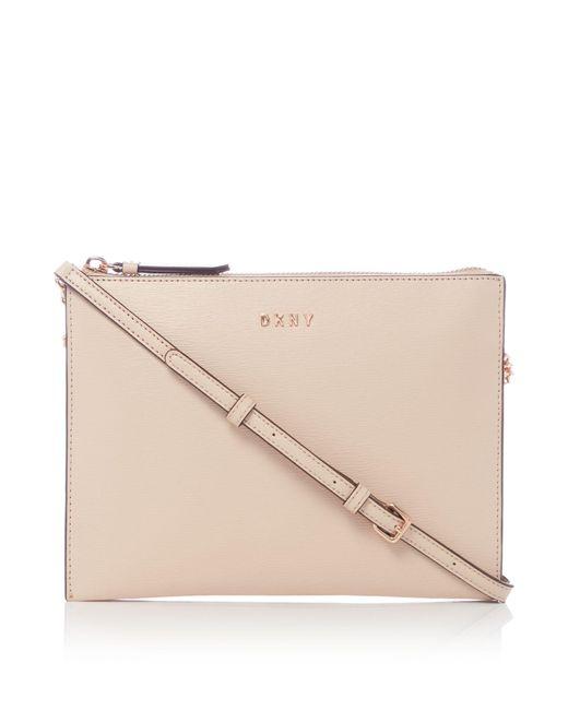 DKNY | Pink Sutton Chain Flat Top Zip Cross Body Bag | Lyst