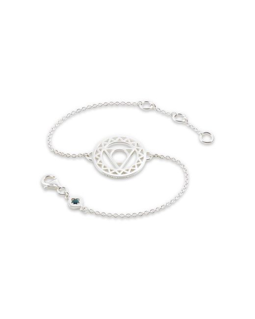 Daisy London - Metallic Throat Chakra Chain Bracelet - Lyst