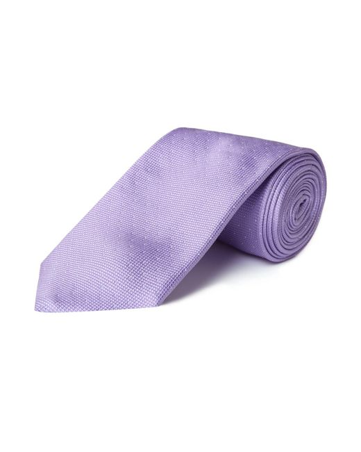 HUGO - Purple Textured Pin Dot Tie for Men - Lyst