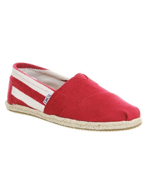 TOMS | Red Stripe University Women's Classics for Men | Lyst