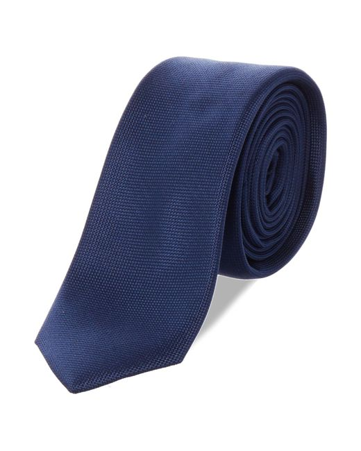Kenneth Cole | Blue Wyndham Solid Silk Tie for Men | Lyst