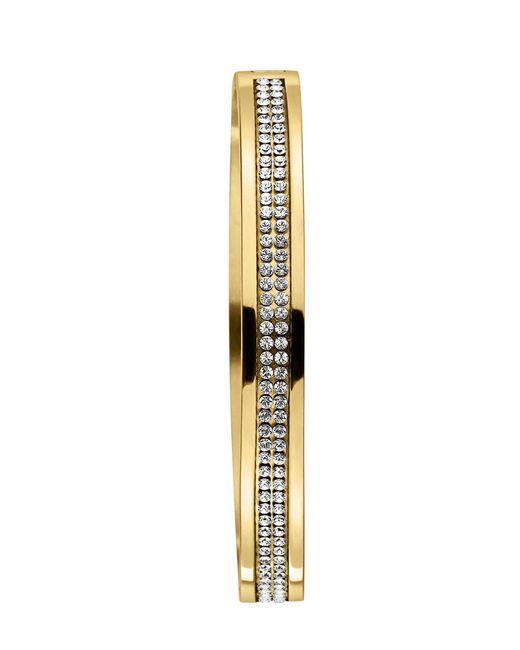 Dyrberg/Kern | Metallic Lorbel Shiny Gold Crystal Bangle | Lyst