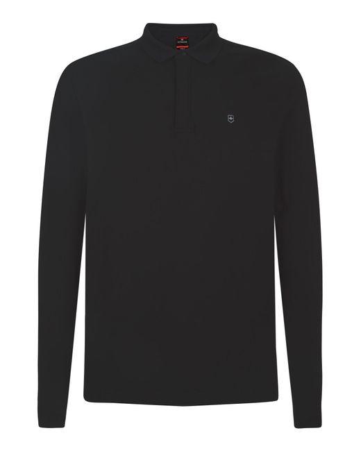Victorinox   Black Long Sleeve Movement Polo for Men   Lyst