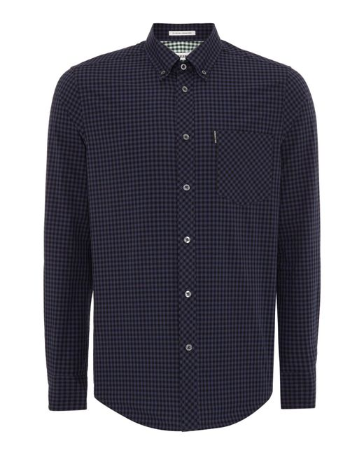 Ben Sherman | Black Classic Gingham Check Long Sleeve Shirt for Men | Lyst
