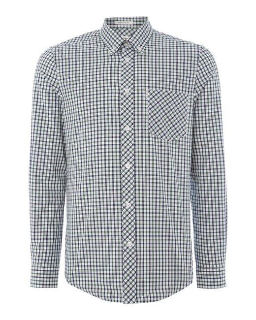 Ben Sherman | Green Heritage House Check Long Sleeve Shirt for Men | Lyst