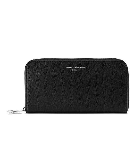 Aspinal | Black Continental Zip Around Wallet | Lyst