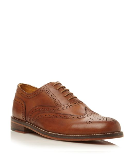 Bertie | Brown Braxton 1 Lace Up Oxford Heavy Brogues for Men | Lyst