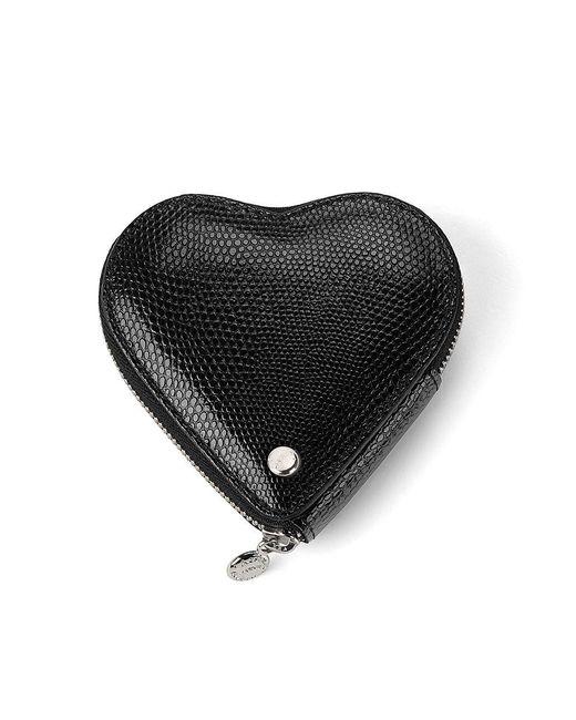 Aspinal | Black Heart Coin Purse | Lyst