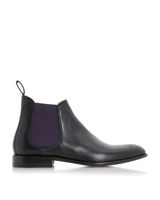 oliver sweeney black silsden brogue toe chelsea boots for men lyst. Black Bedroom Furniture Sets. Home Design Ideas