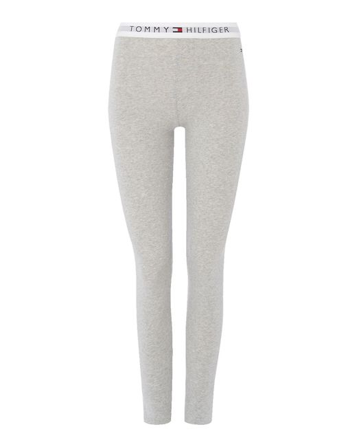 Tommy Hilfiger   Gray Cotton Pant Iconic   Lyst