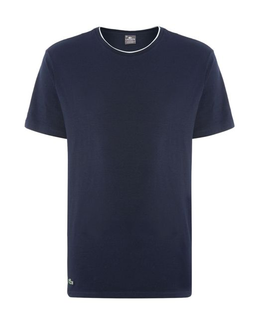 Lacoste | Blue Nightwear Crew Neck T-shirt for Men | Lyst